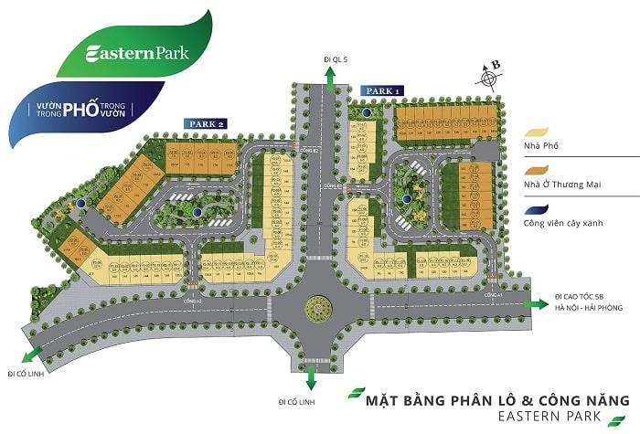 Bản đồ Shophouse Eastern Park