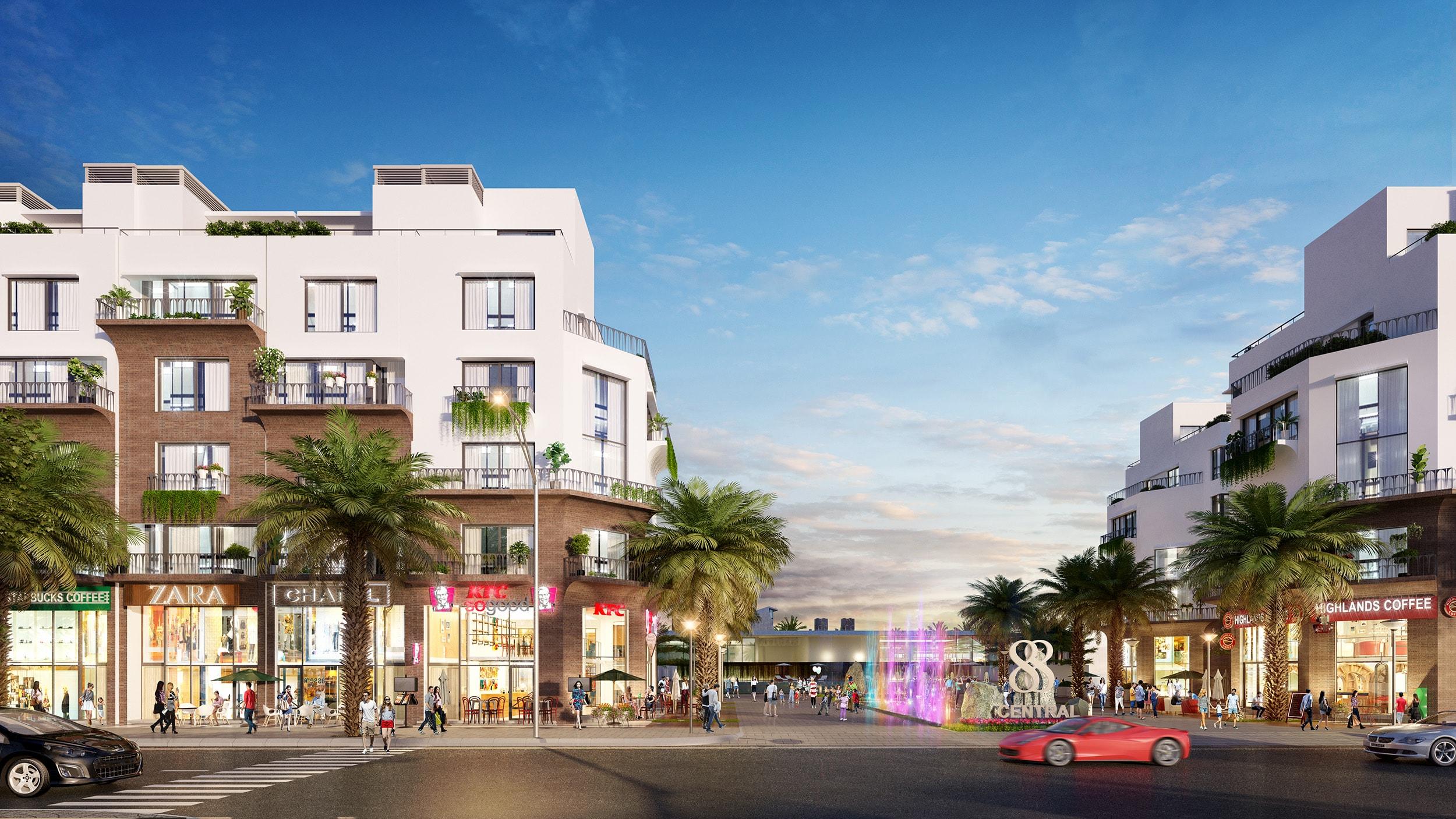 Thiết kế mặt bằng Shophouse 88 Central