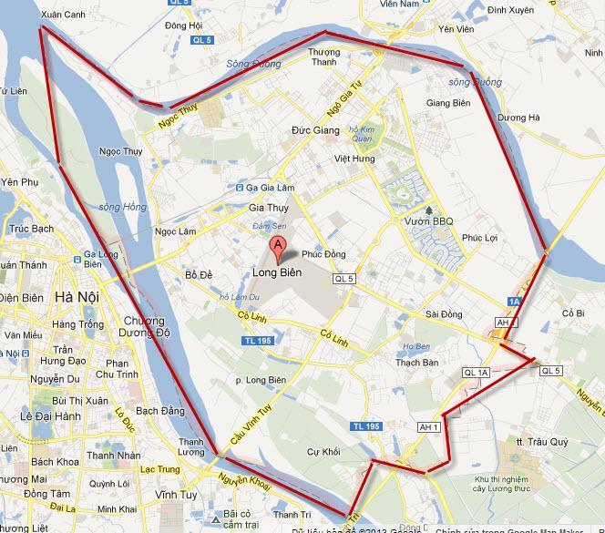 Bản đồ quận Long Biên
