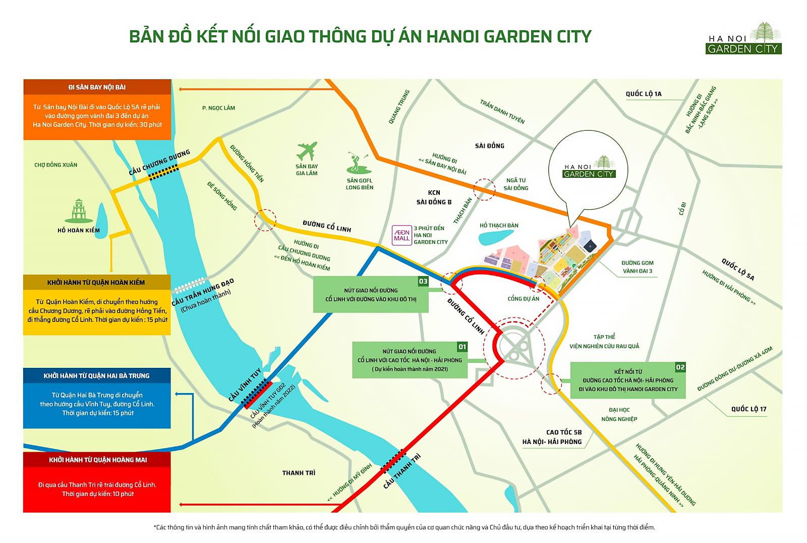 Hệ thống giao thông kết nối Ha Noi Garden City