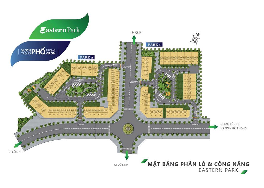 Bản đồ mặt bằng shophouse Eastern Park