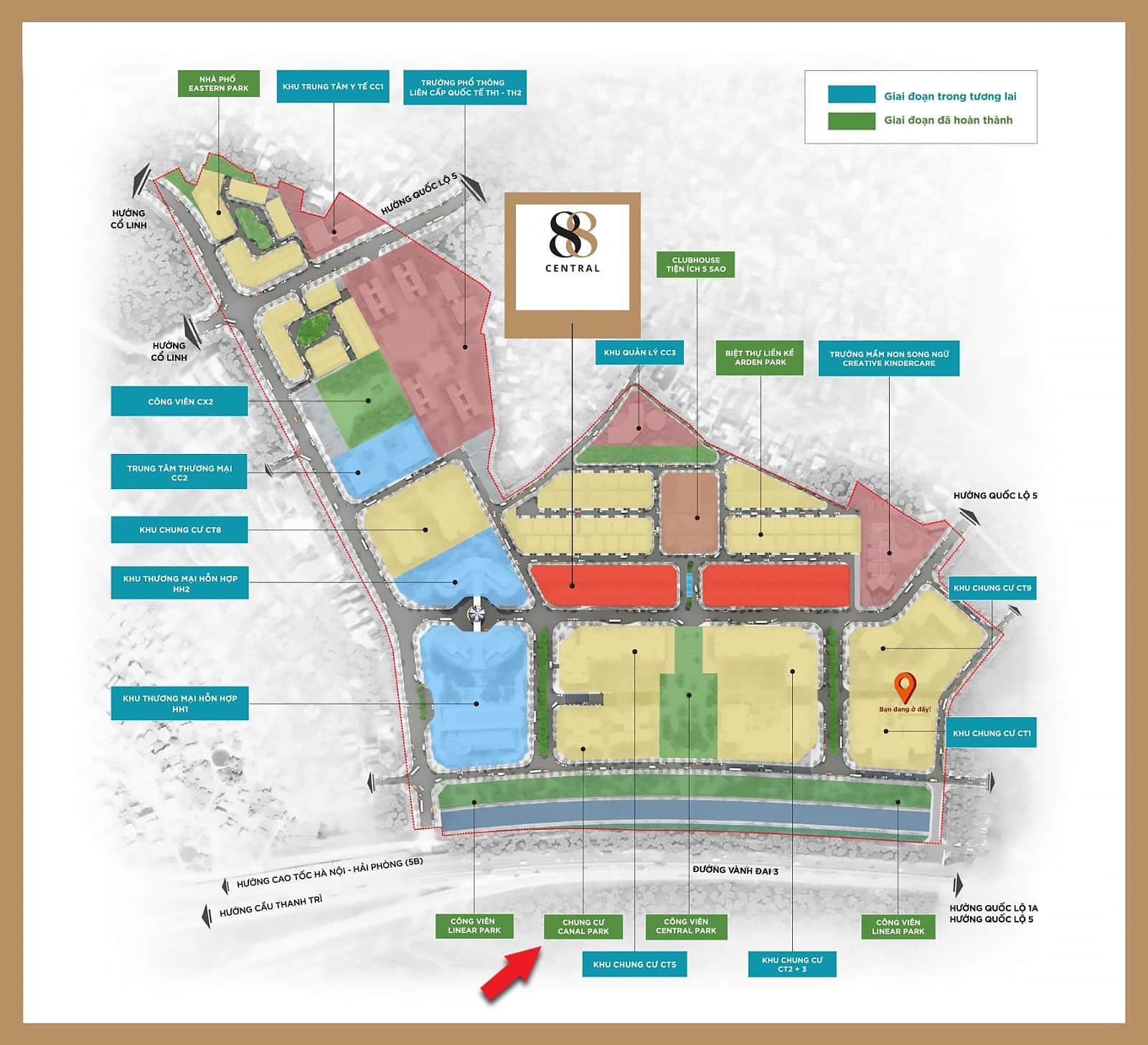 Vị Trí chung cư Canal Park Ha Noi Garen City